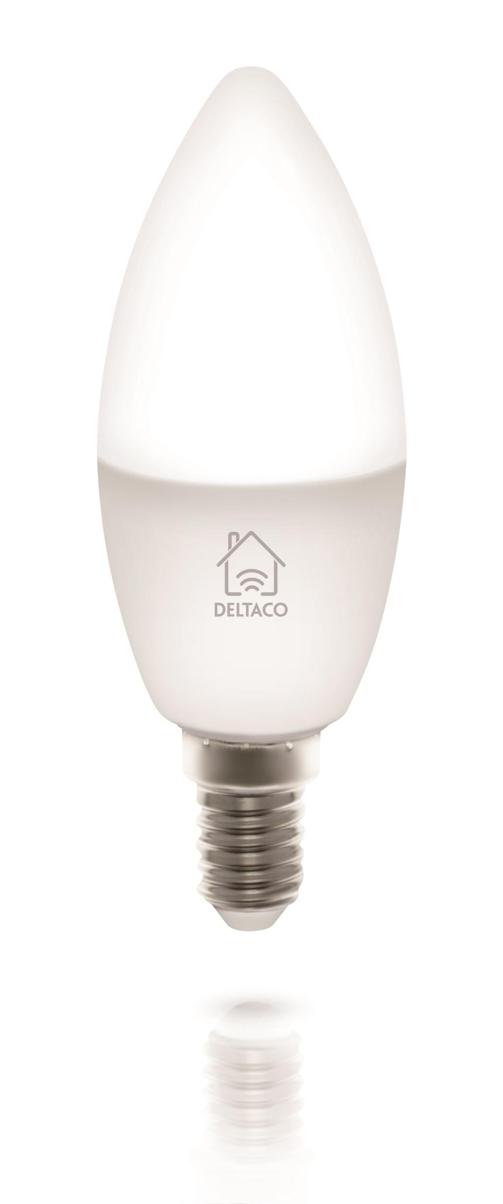 Köp Deltaco Smart Home LED lampa, E14, WiFi, 5W, 2700K 6500K