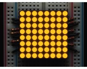 Small 1.2 8x8 Ultra Bright Yellow-Orange LED Matrix - KWM-30881CUYB