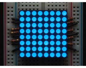 Small 1.2 8x8 Ultra Bright Blue LED Matrix - KWM-30881CBB