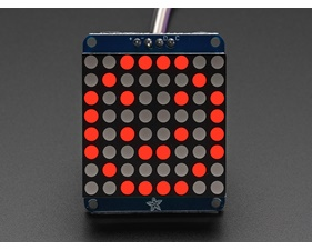 Adafruit Small 1.2 8x8 LED Matrix w/I2C Backpack - Red