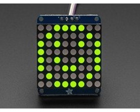 Adafruit Small 1.2 8x8 LED Matrix w/I2C Backpack - Yellow Green