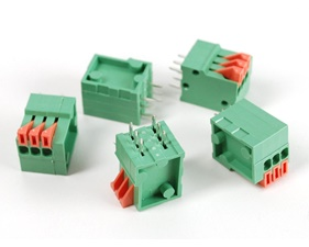 Configurable Spring Terminal Blocks - 3 Pin 0.1 Pitch - Pack of 5