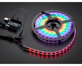 NeoPixel Digital RGB LED Strip - 60 LED/m (White PCB) - 1m