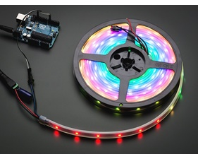 NeoPixel Digital RGB LED Strip - 30 LED/m (White PCB) - 1m