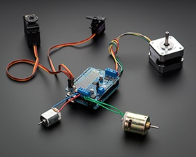 Motor/Stepper/Servo Shield for Arduino kit - v2.3