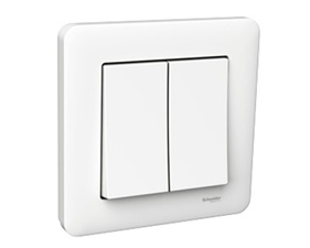 Schneider Exxact Primo Switch Crown Full White (Standard 2 buttons)