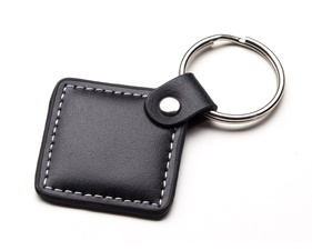 MiFare Classic (13.56MHz RFID/NFC) Leather Keychain Fob - 1KB