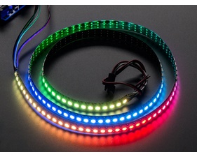 NeoPixel Digital RGB LED Strip 144 LED - 1m Black - BLACK
