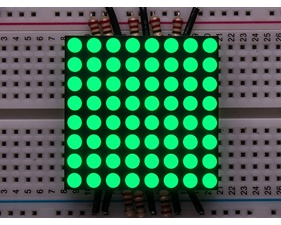 Small 1.2 8x8 Ultra Bright Pure Green LED Matrix - KWM-30881CPGB