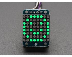 Adafruit Mini 0.8 8x8 LED Matrix w/I2C Backpack - Pure Green