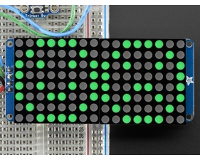 16x8 1.2 LED Matrix + Backpack - Ultra Bright Round Green LEDs
