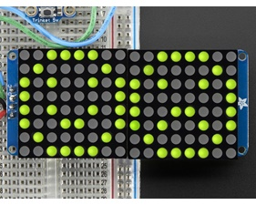 16x8 1.2 LED Matrix + Backpack - Ultra Bright Round YellowGreen LEDs