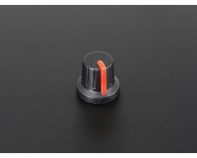 Potentiometer Knob - Soft Touch T18 - Red
