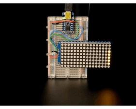 16x8 1.2 LED Matrix + Backpack - Ultra Bright Round Orange LEDs