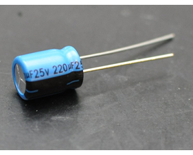 220uF 25V Electrolytic Capacitors - Pack of 10
