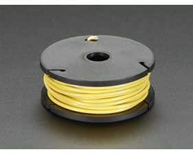 Solid-Core Wire Spool - 22AWG - Yellow - 25 ft (7,5m)
