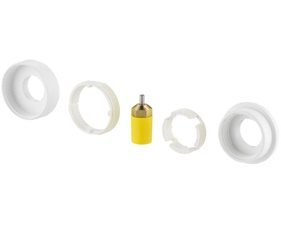 Adapters for mounting Danfoss Living Eco and Living Connect on RAV or RAVL valves (014G0250 - RSK 481 84 60)