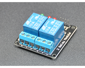 Relay board  5v/logic level operation 2 channel - assembled
