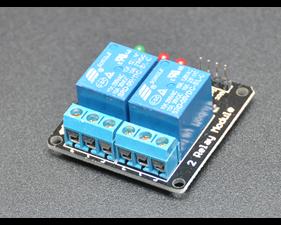 Relay board  5v/logic level operation 2 channel - assembled