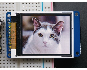 1.8 Color TFT LCD display with MicroSD Card Breakout - ST7735R