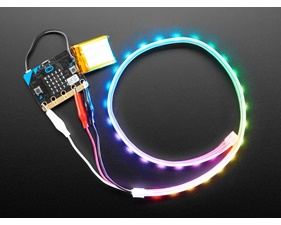 Adafruit NeoPixel LED Strip w/ Alligator Clips - 60 LED/m (0,5m)