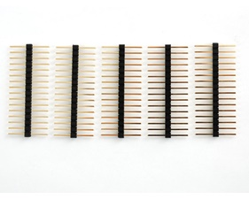 Extra-long break-away 0.1 16-pin strip male header (5 pieces)