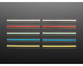 "Break-away 0.1"" 36-pin strip male header - Various Colors"