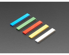"20-pin 0.1"" Female Headers - Rainbow Color Mix - 5 pack"