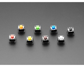 6mm Rainbow Tactile Button - 8 Pieces