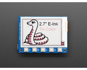"Adafruit 2.7"" Tri-Color eInk / ePaper Shield with SRAM"