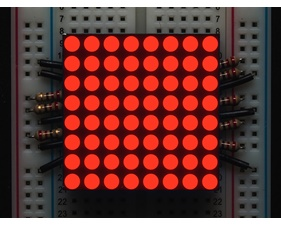Small 1.2 8x8 Ultra Bright Red LED Matrix - KWM-30881CVB