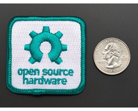 Open source hardware - Skill badge, iron-on patch (50mm x 50mm)