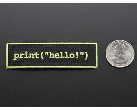 Learn to program Hello world - Skill badge, iron-on patch