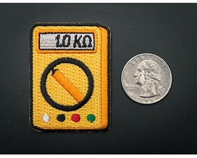 Multi-Meter! - Skill badge, iron-on patch (50x44mm)