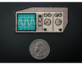 Oscilloscope - Skill badge, iron-on patch (50mm x 44mm)