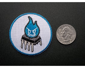 Magic Blue Smoke Monster - Skill badge, iron-on patch (50mm)