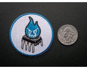 Magic Blue Smoke Monster - Skill badge, iron-on patch (50mm)