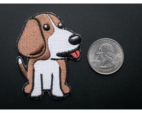 Beagle Bone - Skill badge, iron-on patch (38mm x 50mm)