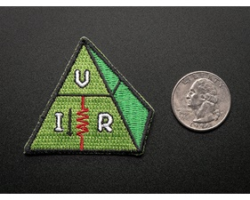 Ohms law, VIR - Skill badge, iron-on patch (50mm x 44mm)