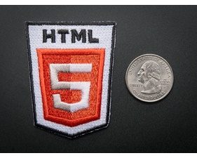 HTML 5 - Skill badge, iron-on patch (50mm x 50mm)