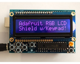 Adafruit RGB LCD Shield Kit w/ 16x2 Character Display - Only 2 pins used! - NEGATIVE DISPLAY