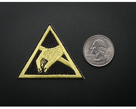 ESD (Electrostatic discharge) - Skill badge, iron-on patch (50x50mm)