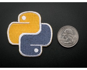 Python - Skill badge, iron-on patch (50mm x 50mm)