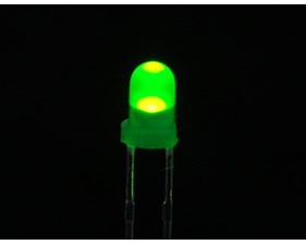 Diffused Green 3mm LED (10 pack)