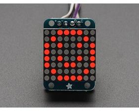 Adafruit Mini 8x8 LED Matrix w/I2C Backpack - Red