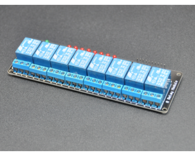 Relay board  5v/logic level operation 8 channels - assembled