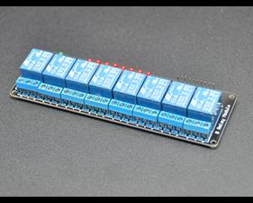 Relay board  12v/logic level operation 8 channels - assembled