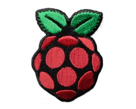 PiBadge - Raspberry Pi Skill badge, iron-on patch (38x50mm)