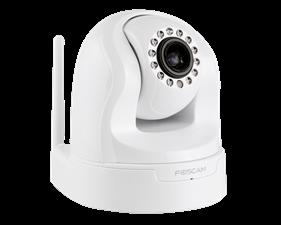 Trådlös HD-nätverkskamera med pan/tilt/zoom-funktion Foscam FI9826P Vit