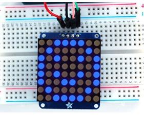 Adafruit Small 1.2 8x8 LED Matrix w/I2C Backpack - Blue